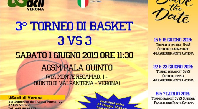 3° Torneo di Basket 3 vs 3