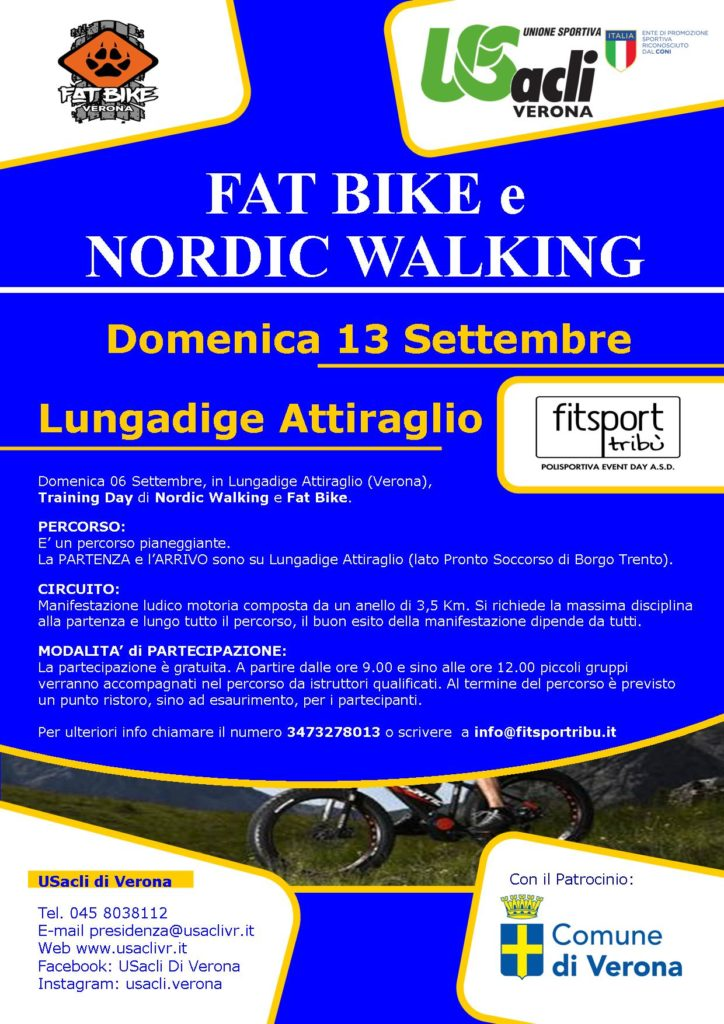Training Day di Nordic Walking e Fat Bike.